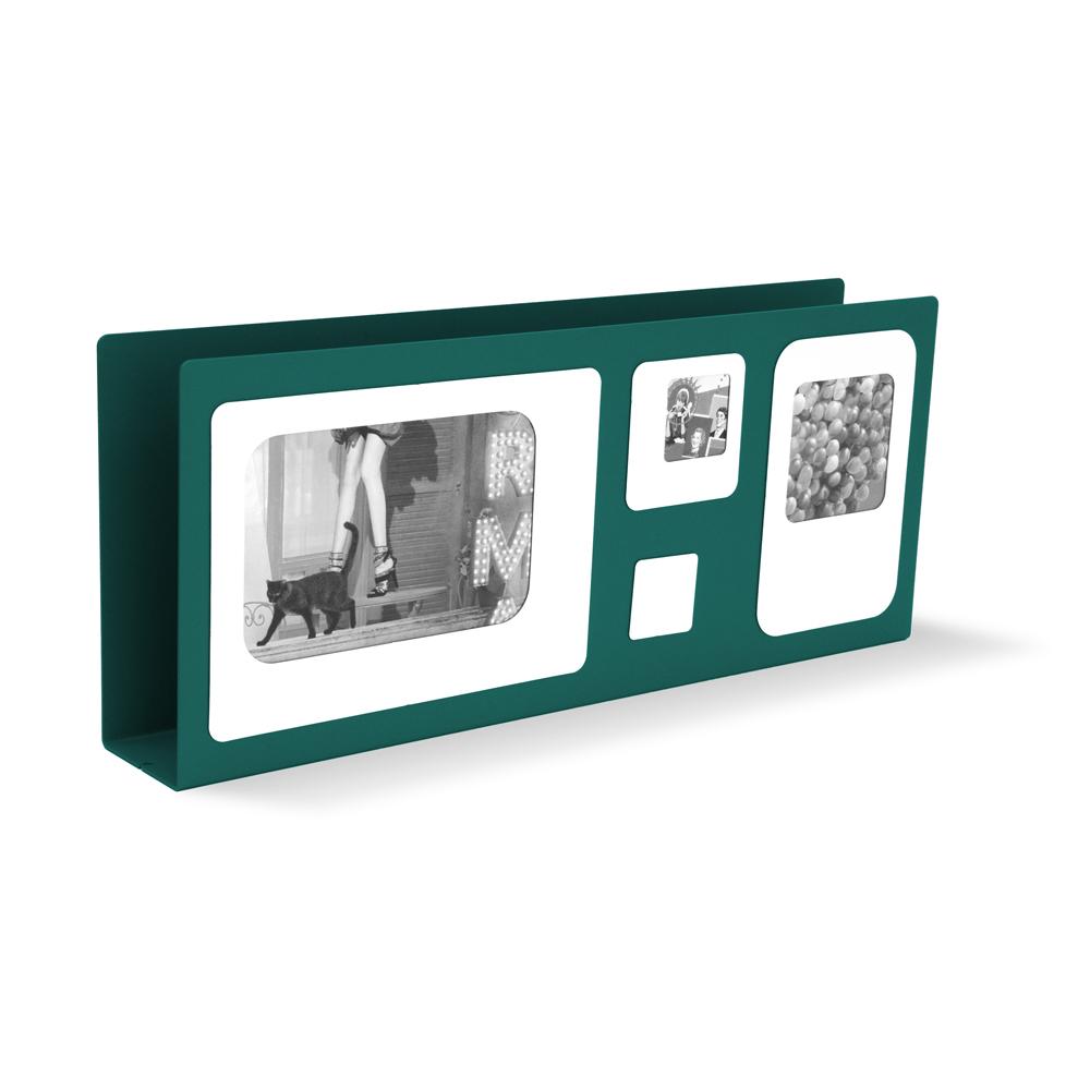 Porte lettres cadre photo métal vert