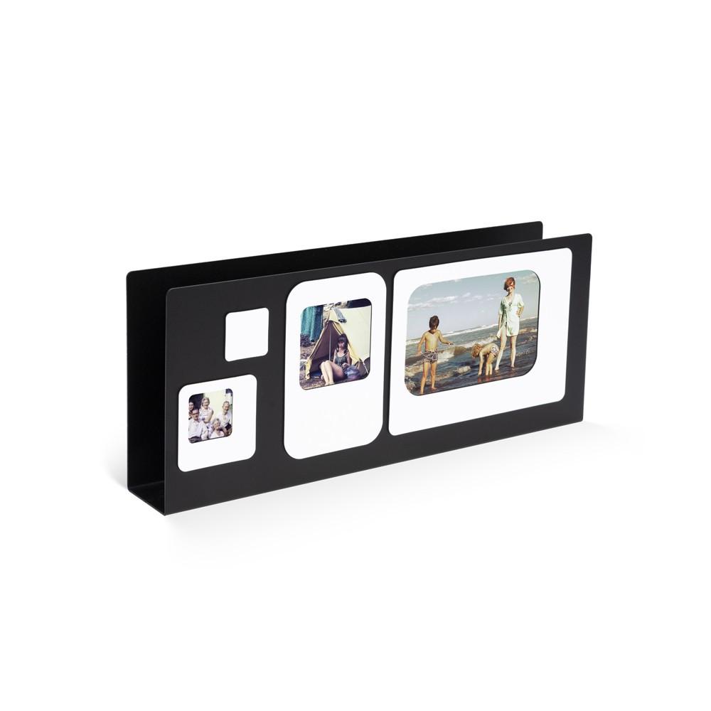 Porte lettres cadre photo métal noir