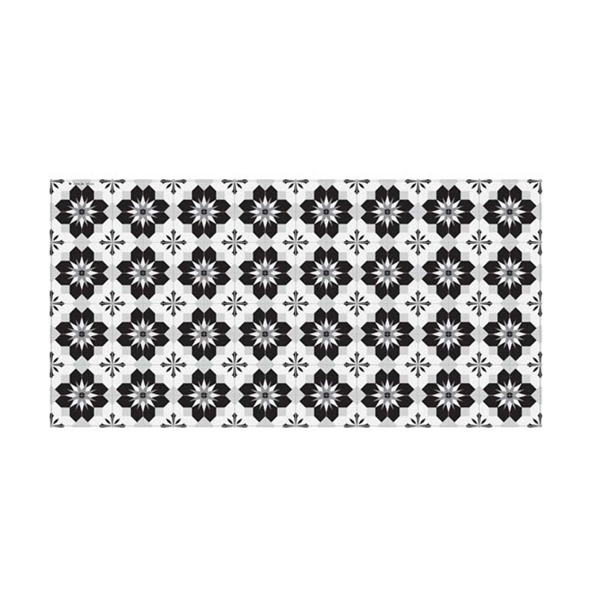 Dessous de plat en mdf noir blanc gris