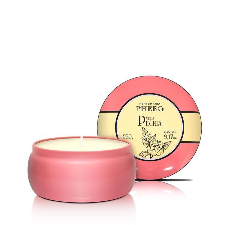 Bougie parfumée à la pivoine