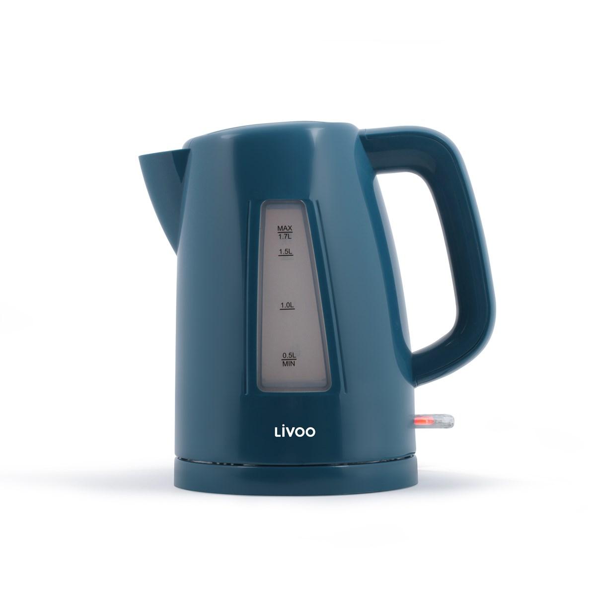 Bouilloire sans fil électrique en plastique bleu