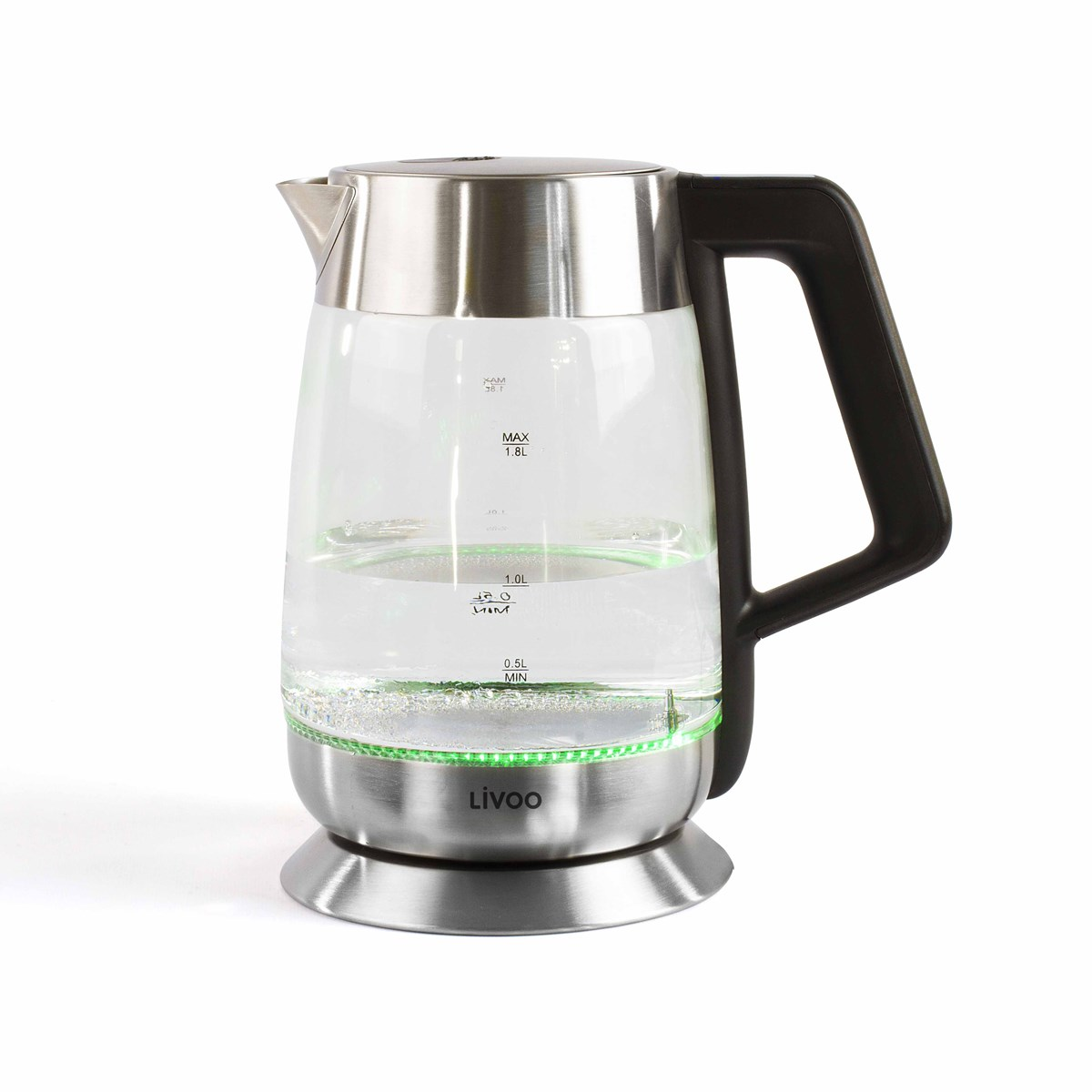 Bouilloire à température variable en verre gris