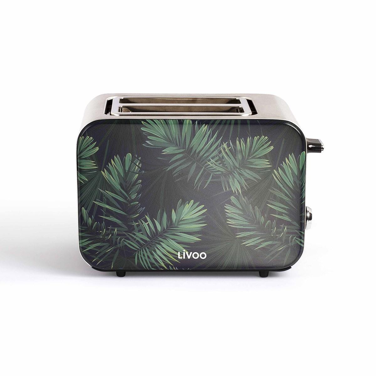 Livoo Grille-pain Jungle en Acier inoxydable Vert