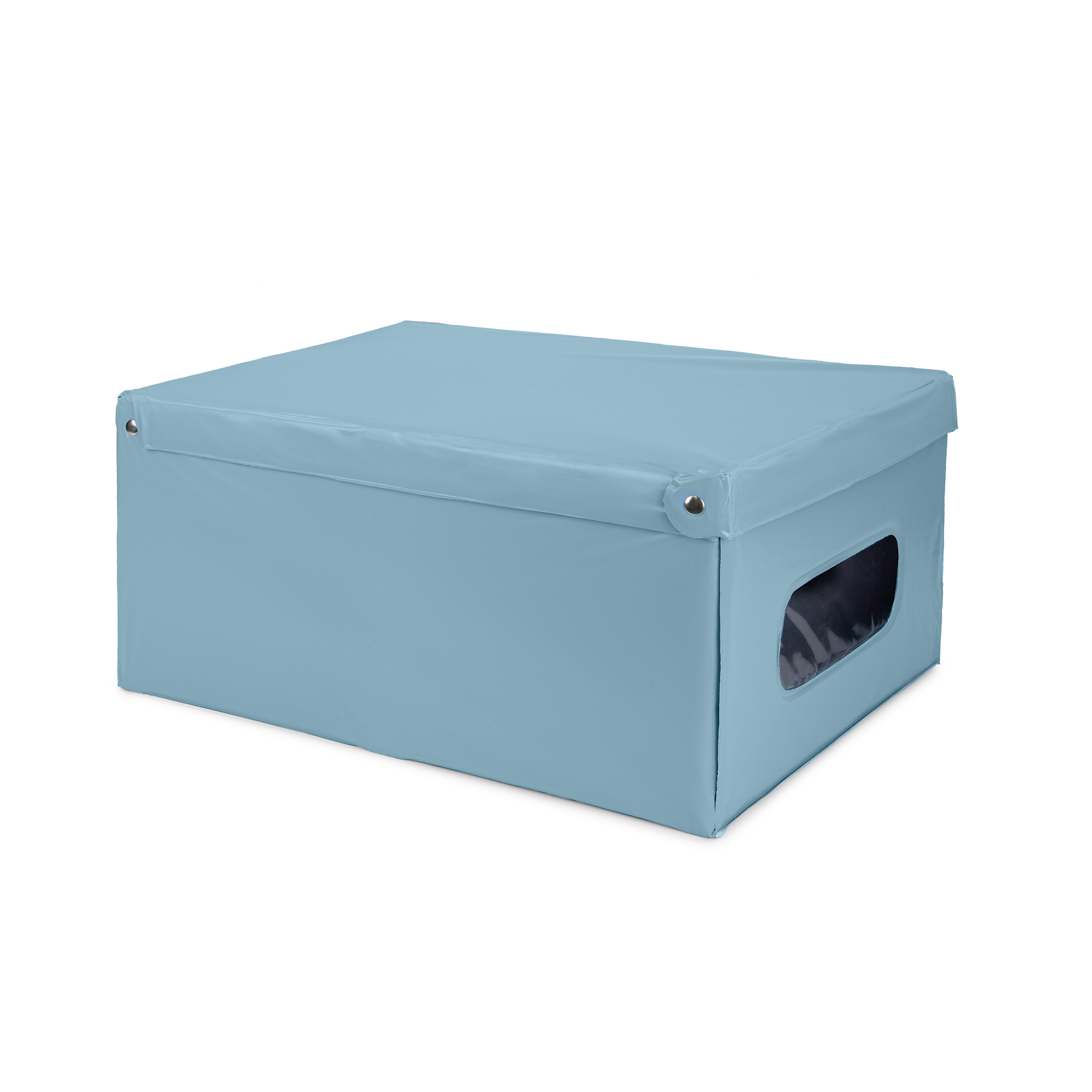 Boîte de rangement en PVC bleue 50x38,5cm