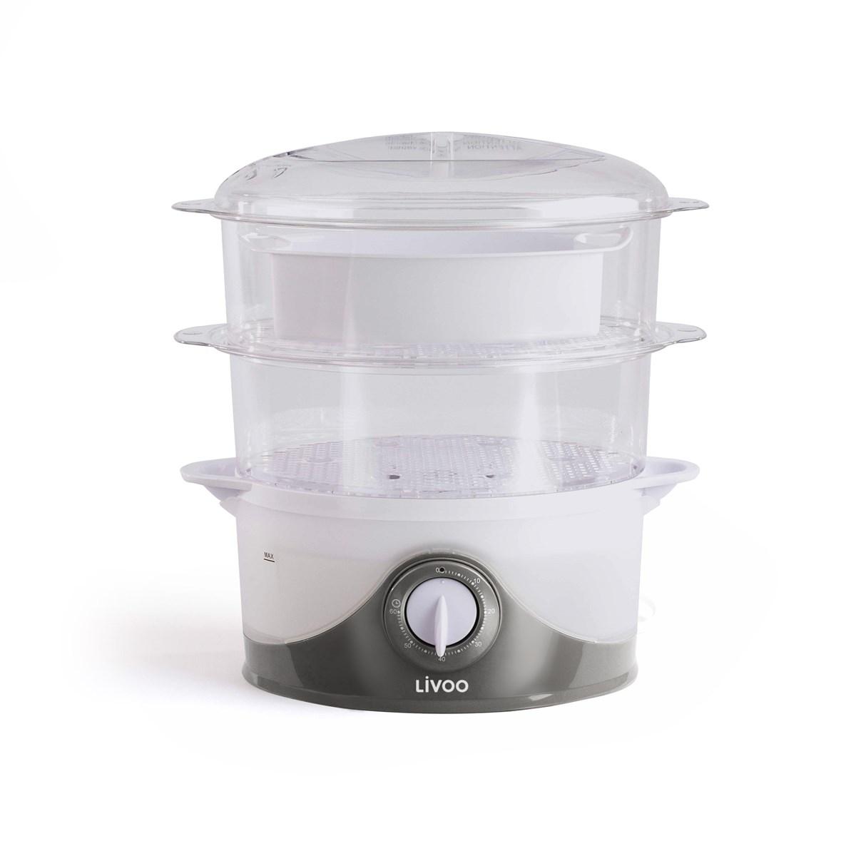 Livoo Cuiseur vapeur et riz en Plastique Transparent