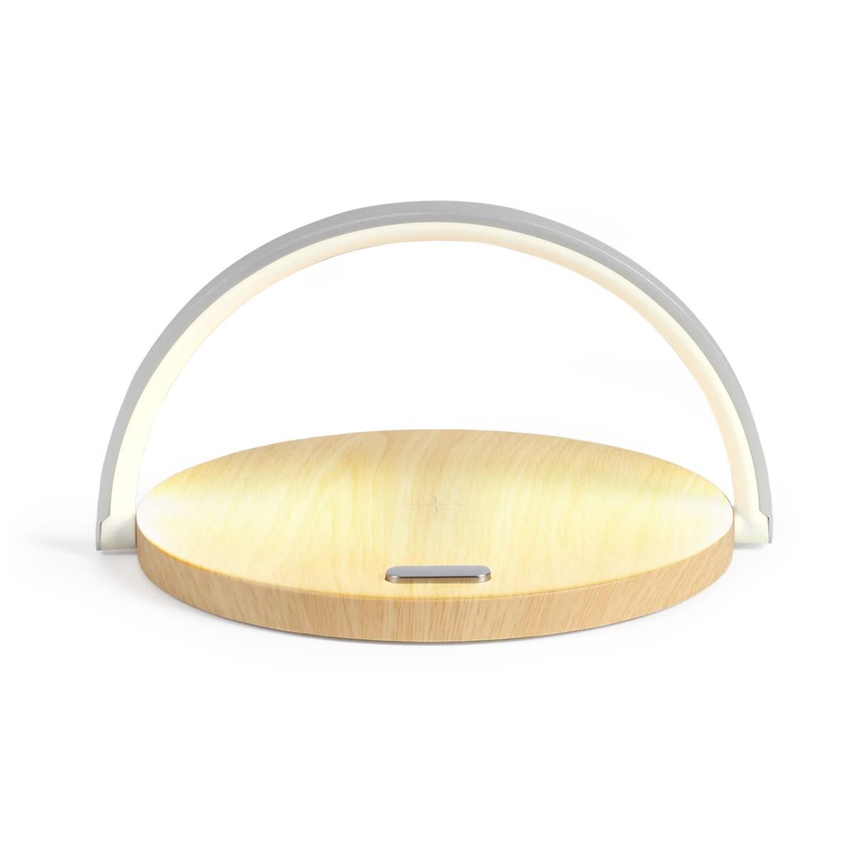Lampe de chevet tactile 2 en 1 en ABS marron