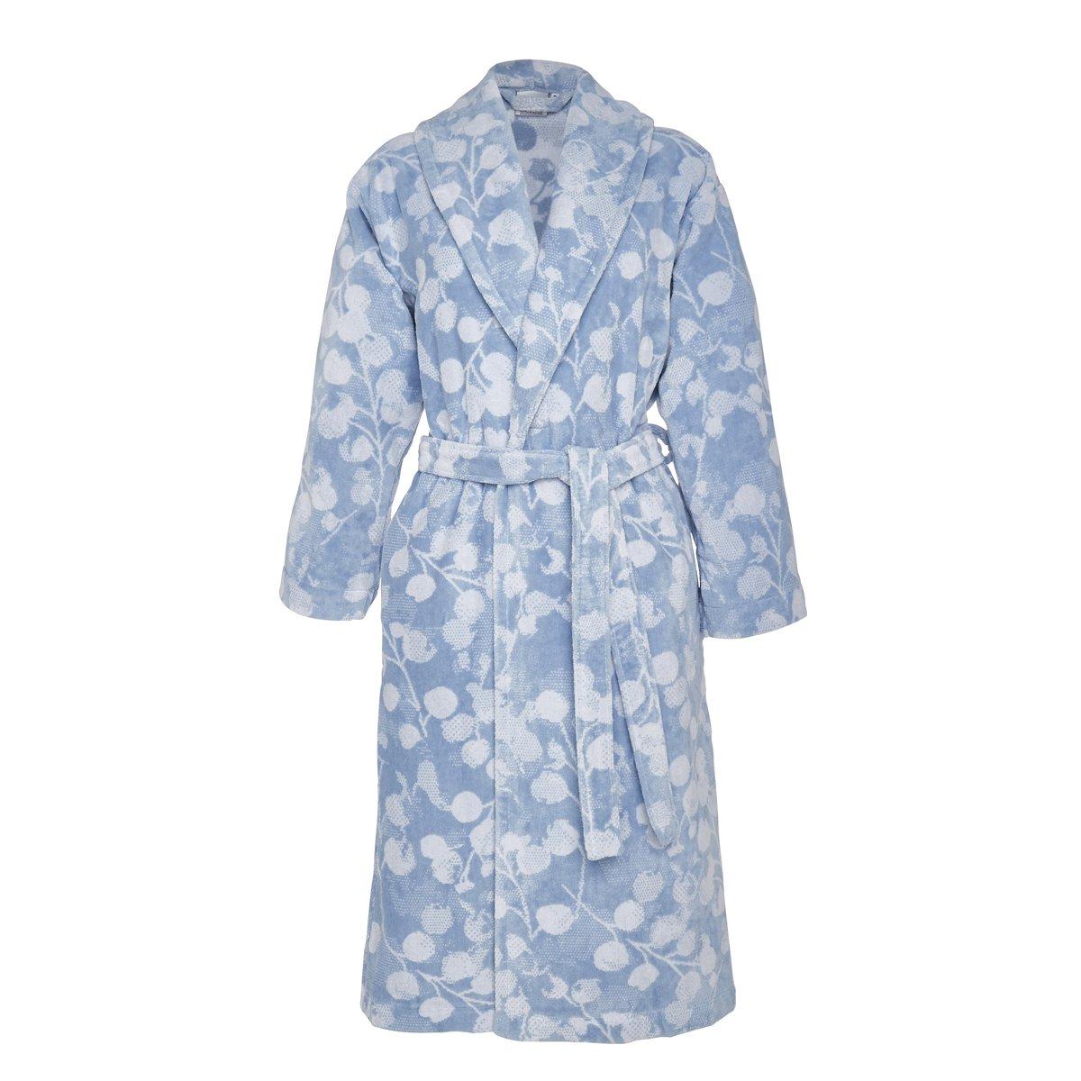 Peignoir coton l bleu clair