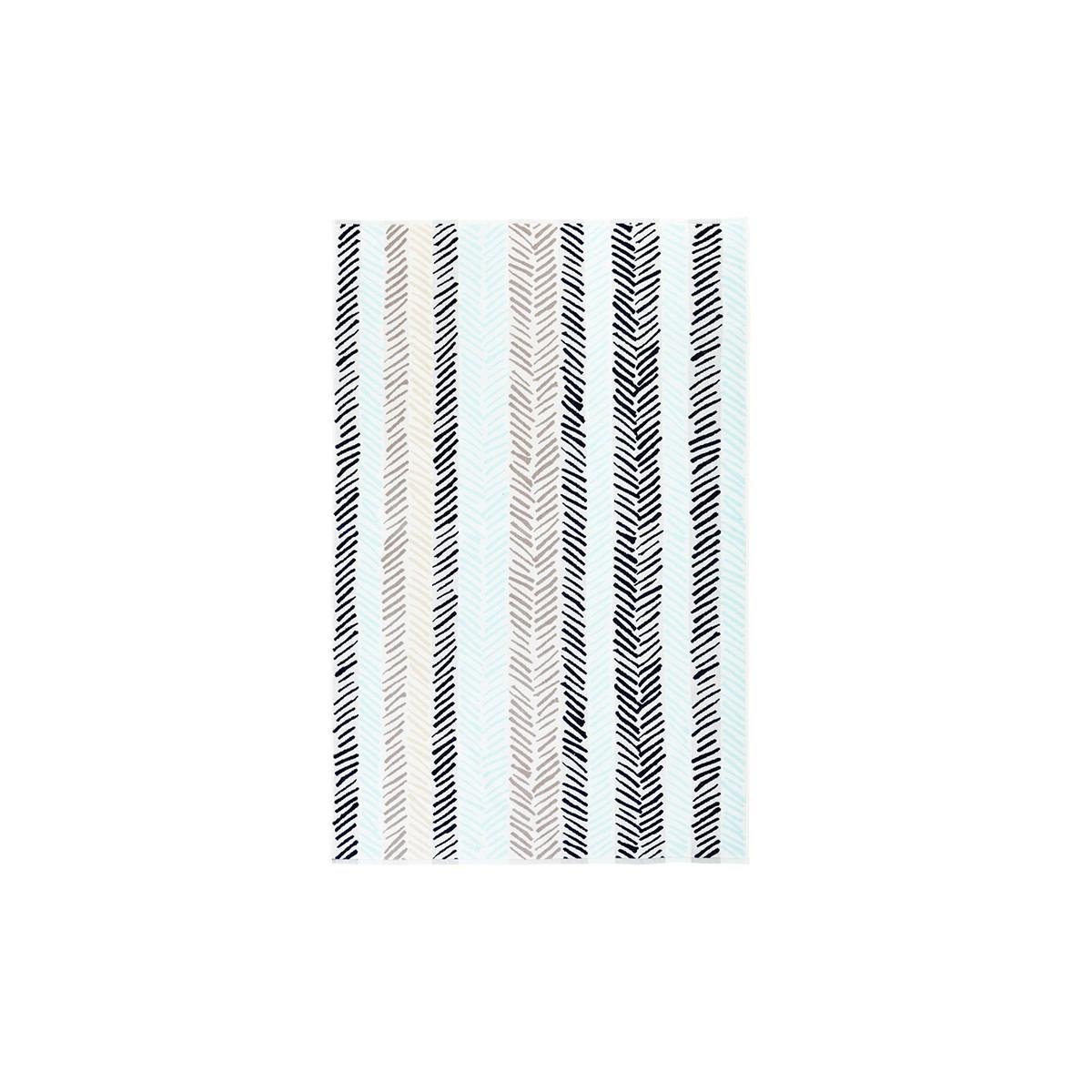 Drap de plage coton 100x160 cm bleu clair rayé