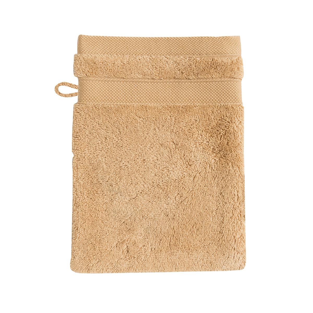 Gant de toilette coton 16x22 cm cachemire
