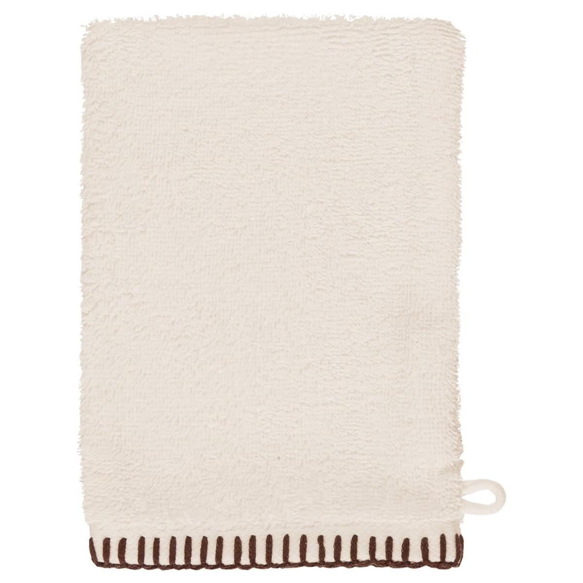 ANTHINEA - Lot de 2 gants de toilette coton bi Ecru 16x22 cm