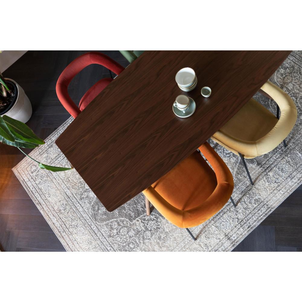 Fauteuil de table en velours or