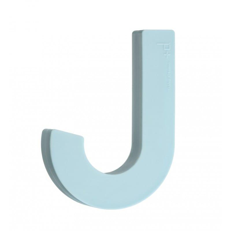 Patère design souple en silicone bleu ciel