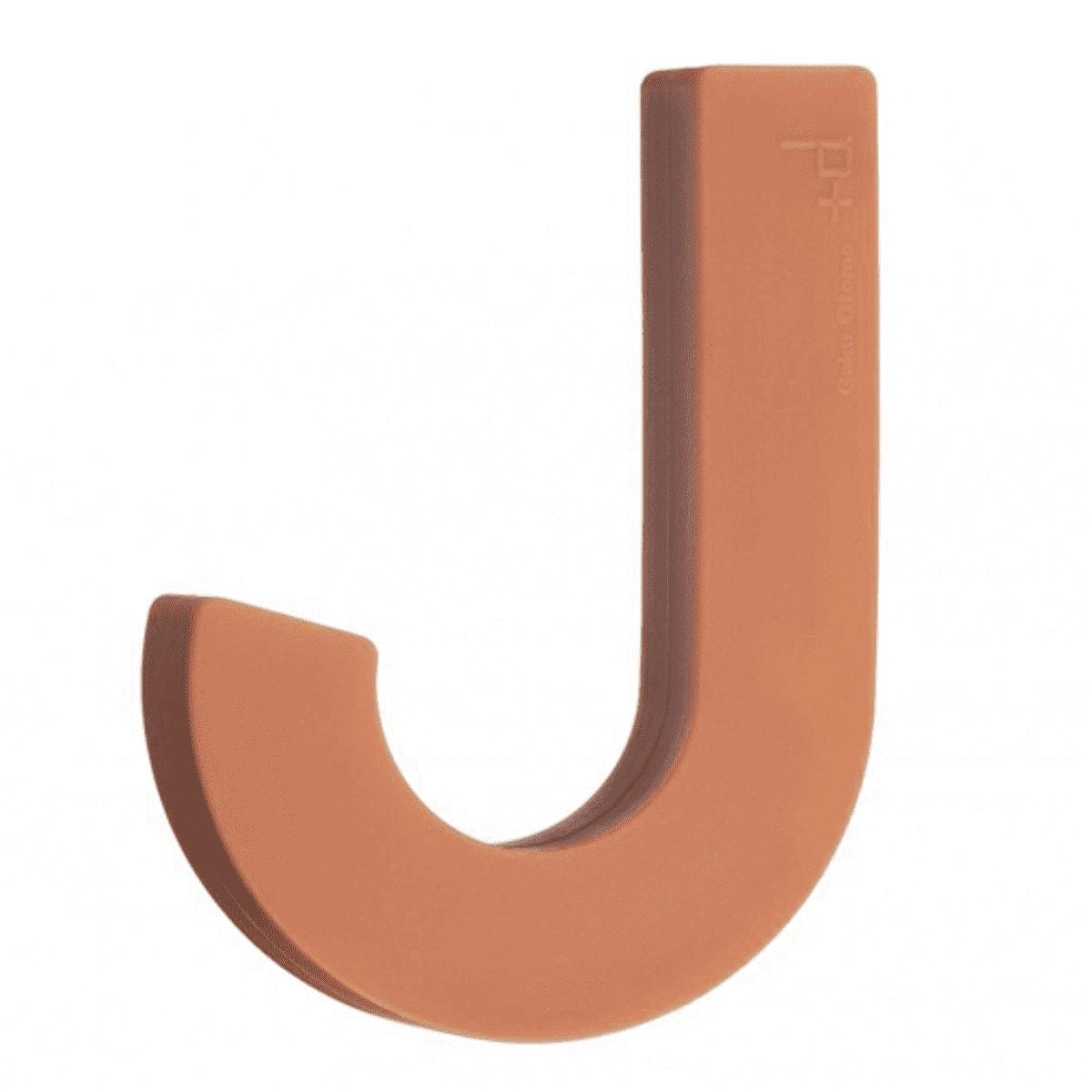 Patère design souple en silicone orange