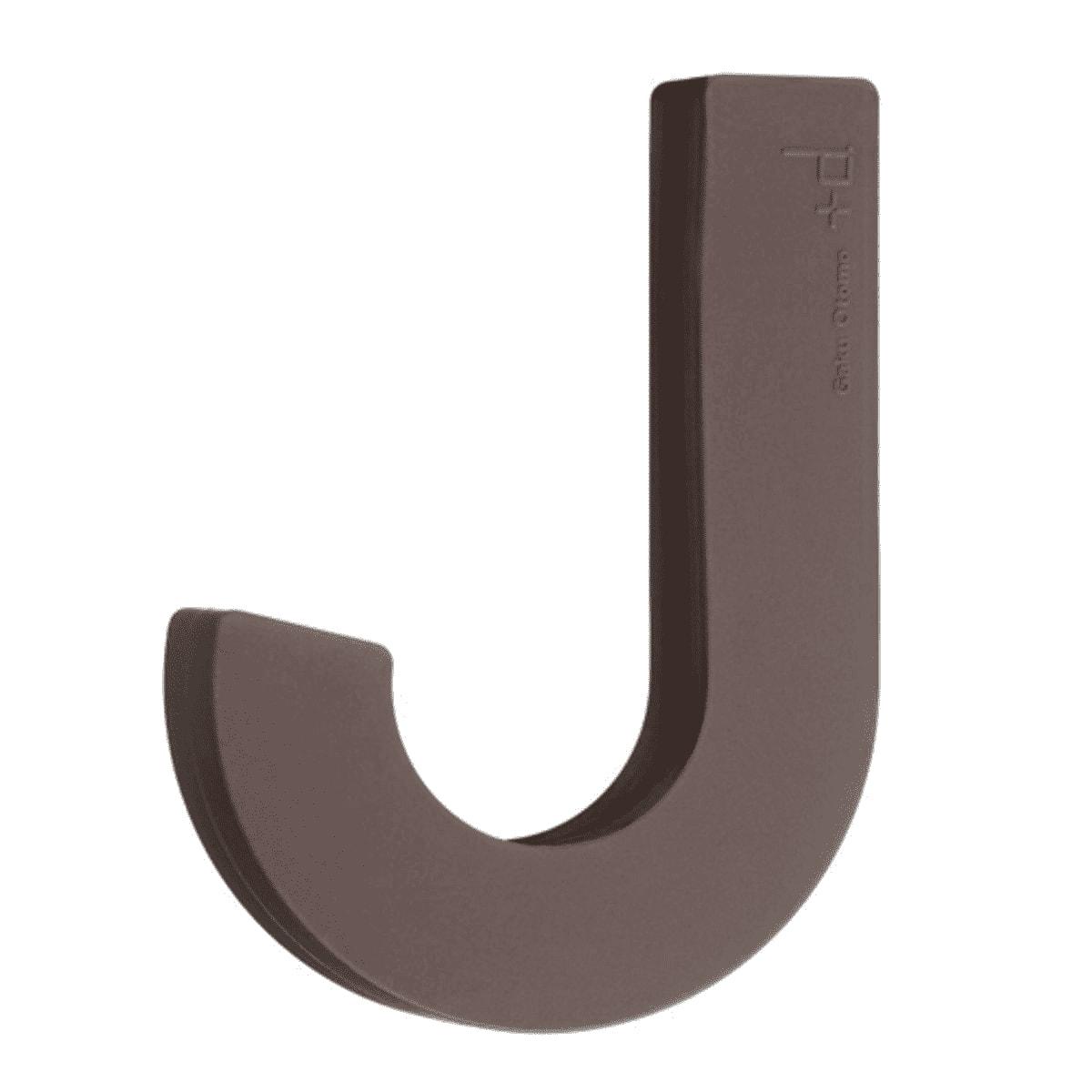 Patère design souple en silicone marron