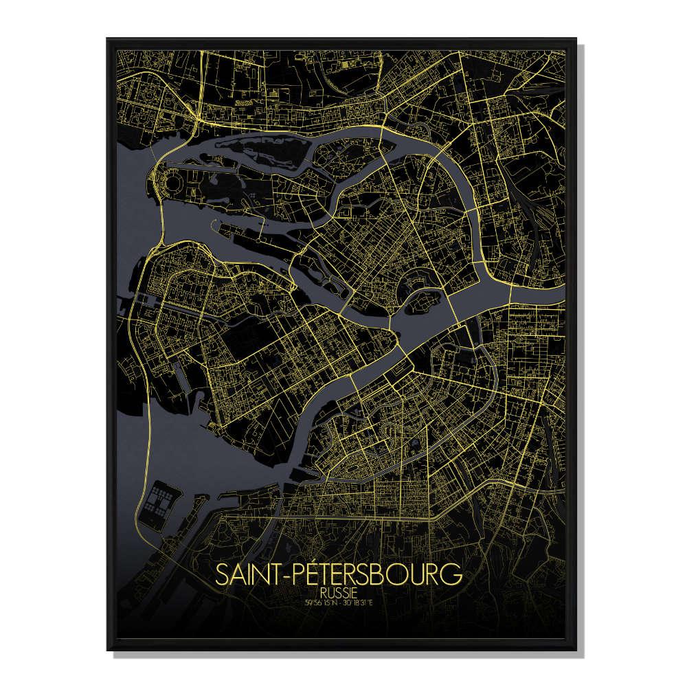 ST PETERSBOURG - Carte City Map Nuit