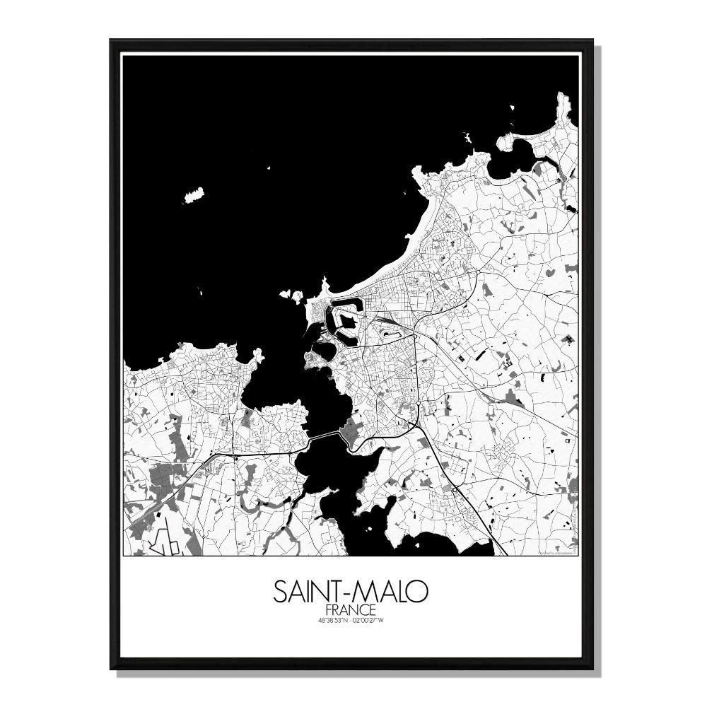 ST MALO - Carte City Map N&B