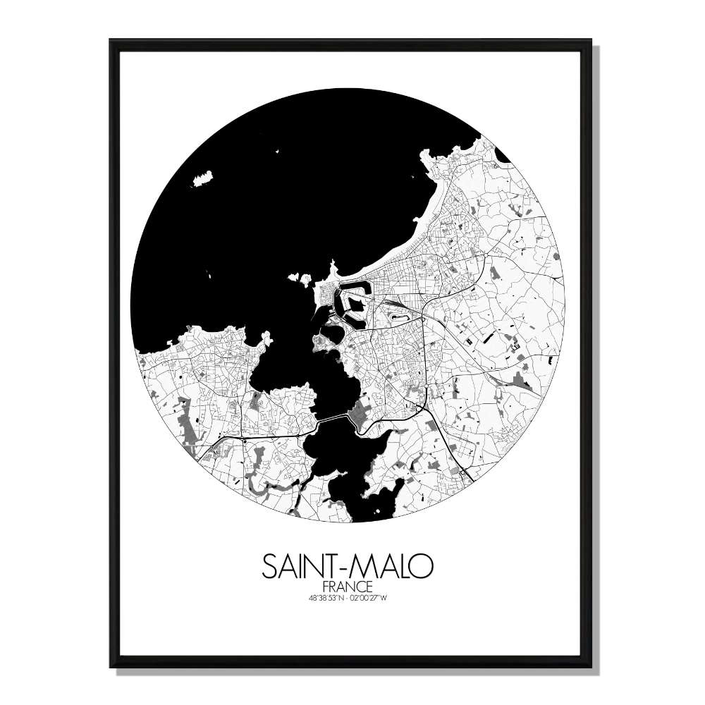 ST MALO - Carte City Map Rond