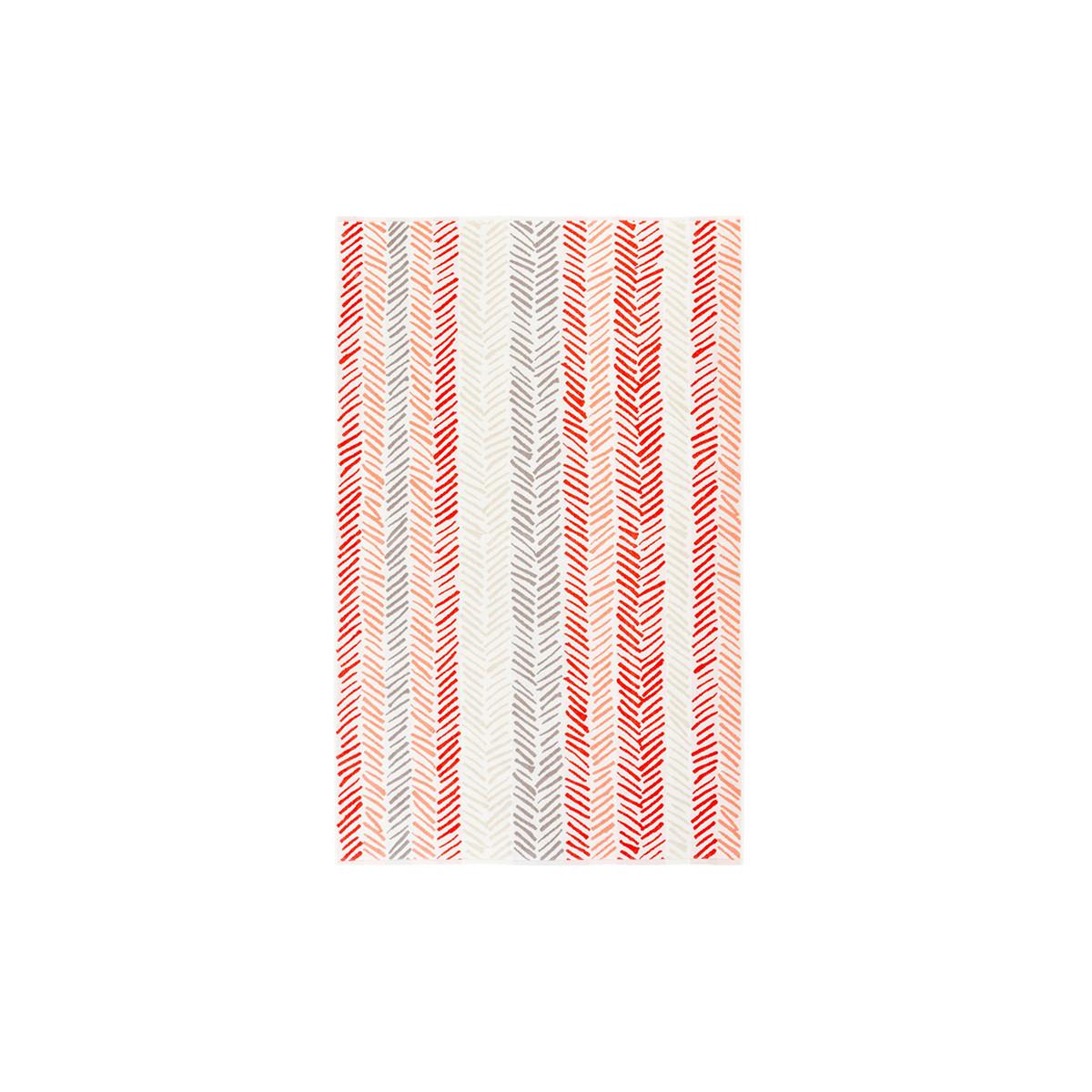 Drap de plage coton 100x160 cm rouge rayé