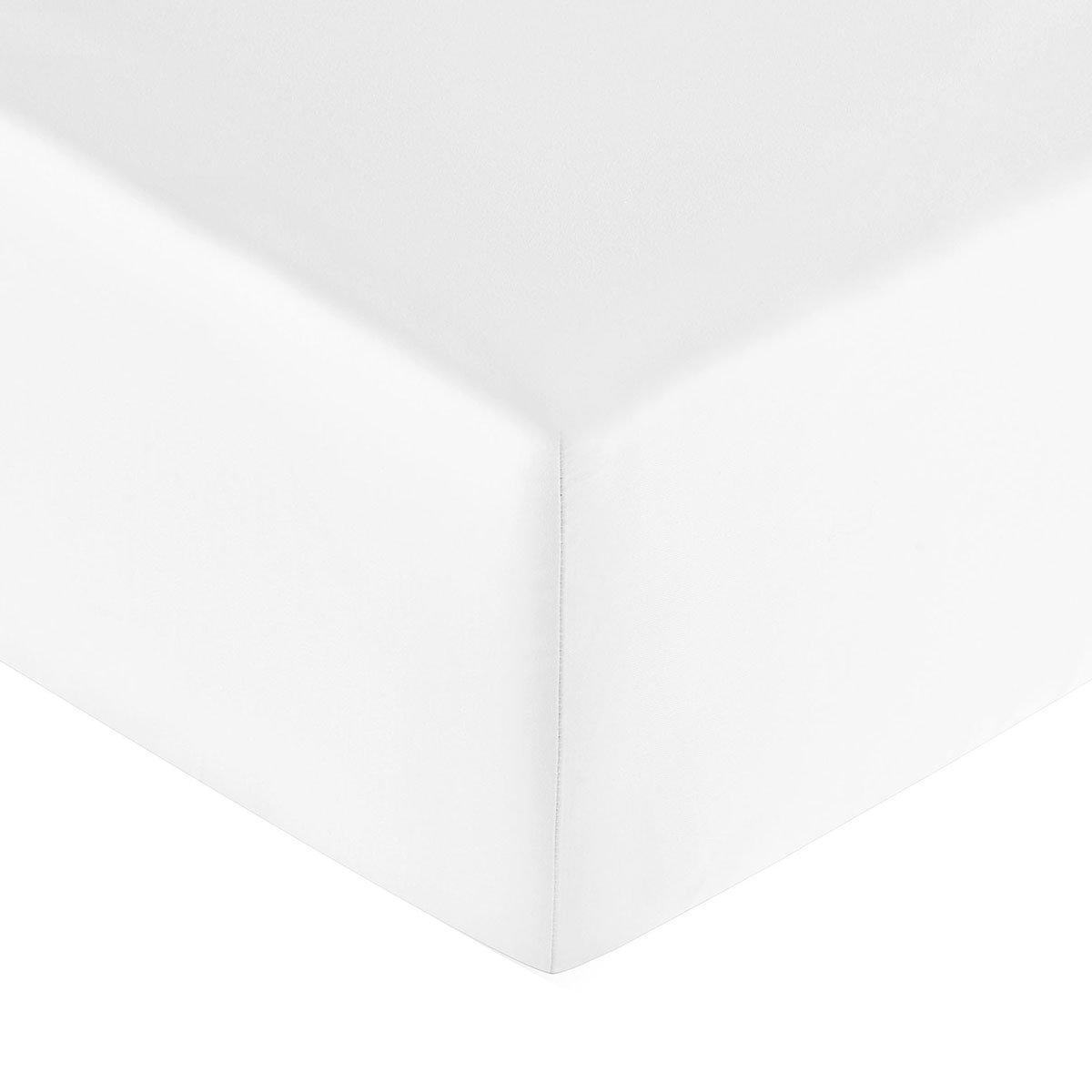 Drap housse coton 140x190 cm colombe