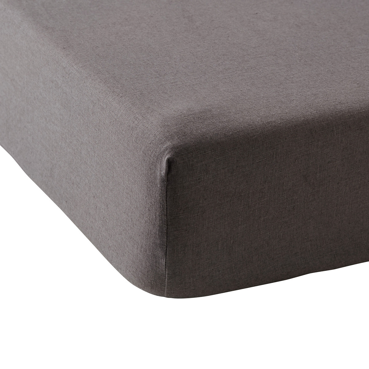 Drap housse lin 90x190 cm graphite
