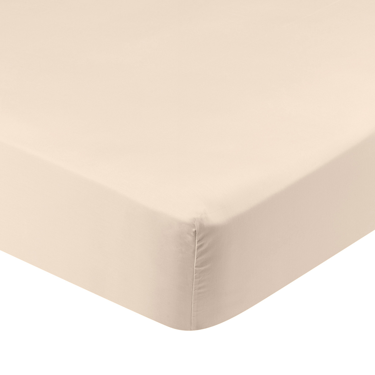 Drap housse coton 140x190 cm poudre