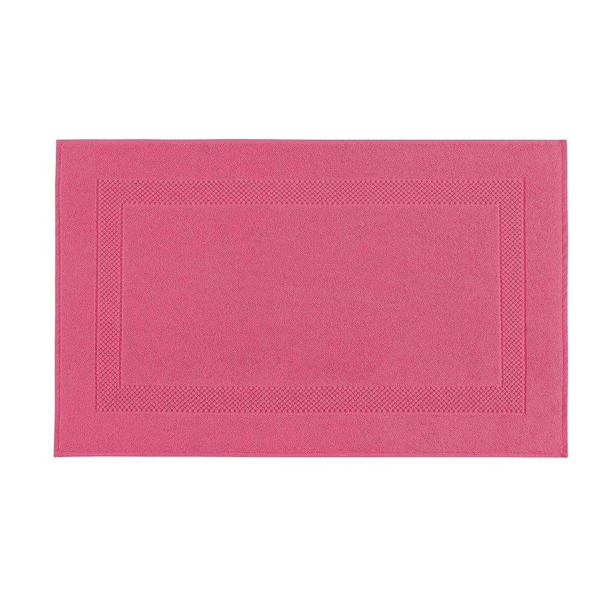 Tapis de bain coton 60x80 cm azalée