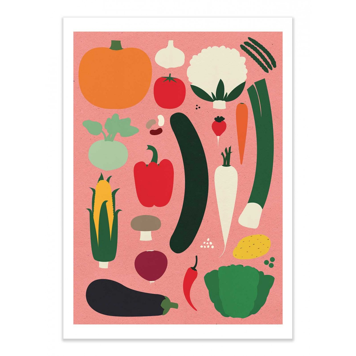THANKSGIVING OLD PINK - Affiche d'art 50 x 70 cm