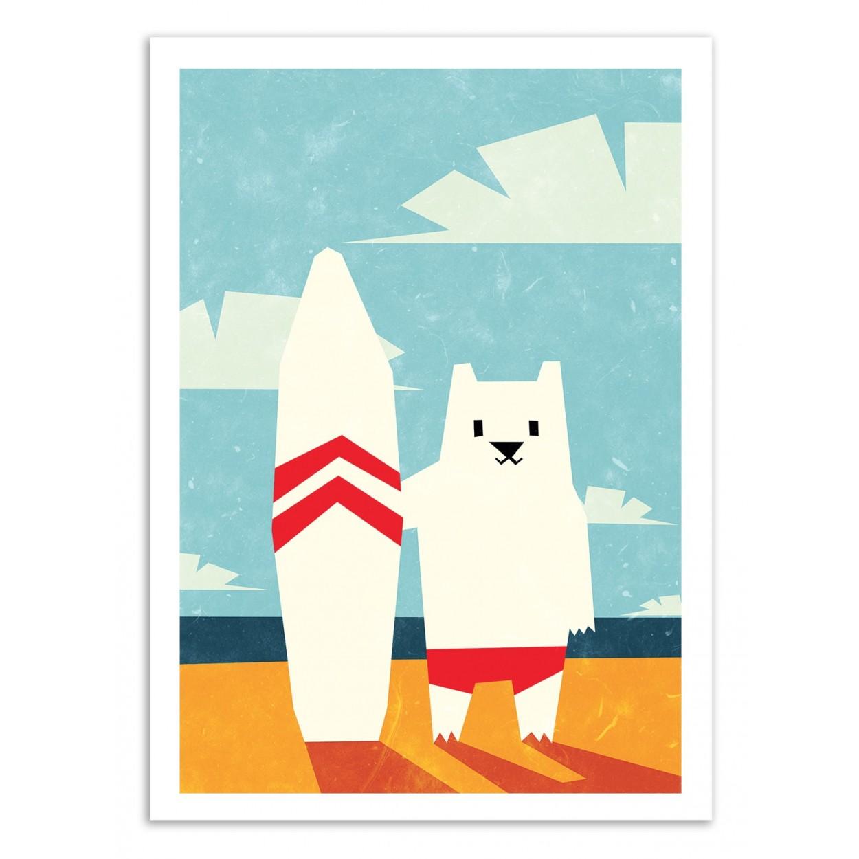 SURF -  Affiche d'art 50 x 70 cm