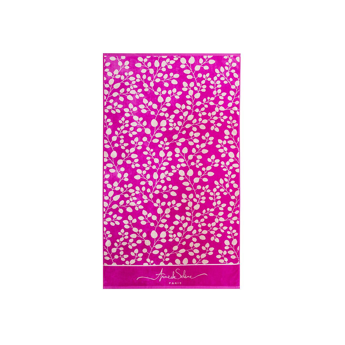 Drap de plage coton 100x170 cm rose foncé