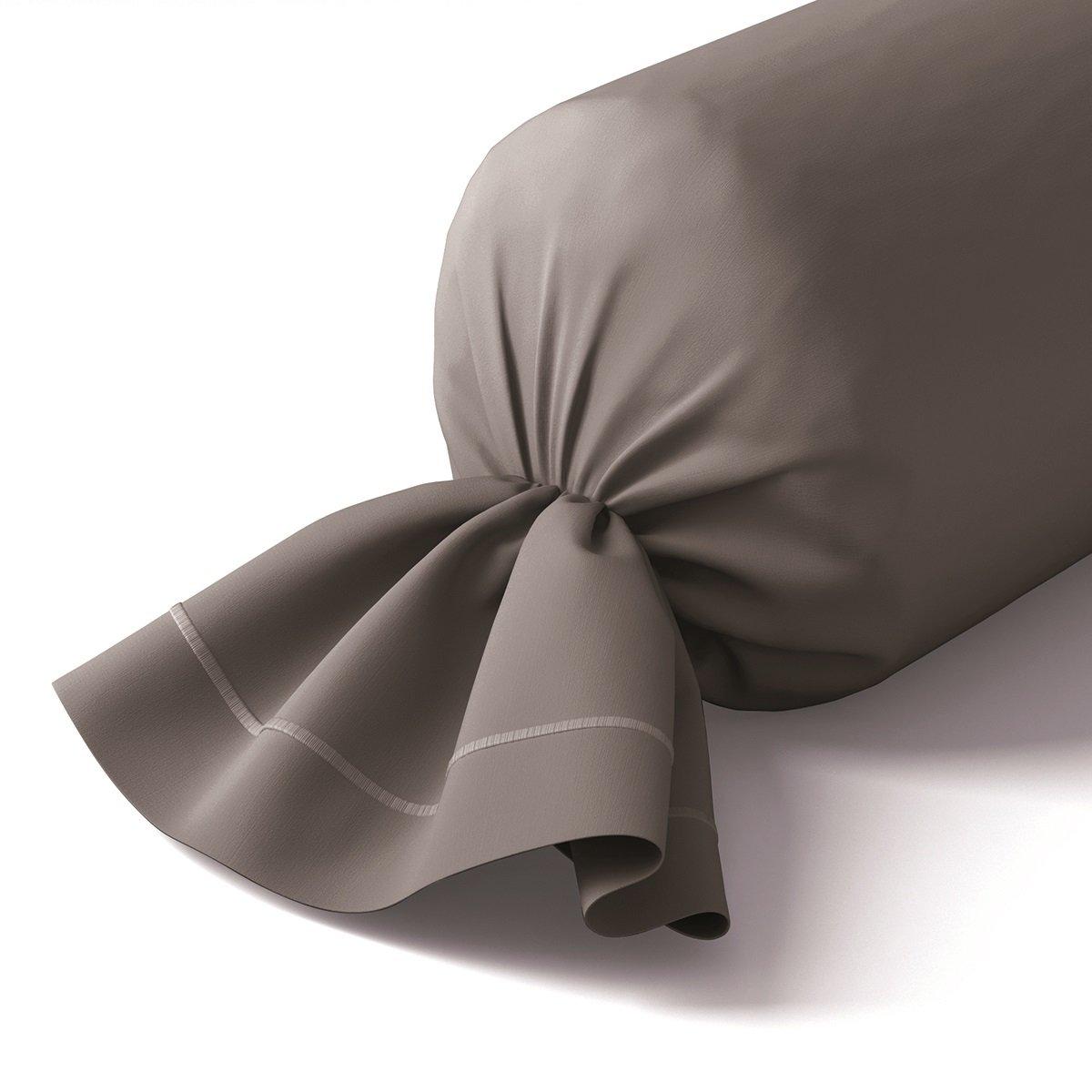 Taie de traversin coton 43x210 cm argile