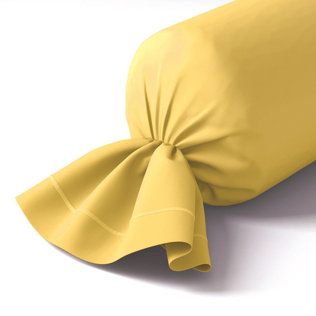 Taie de traversin coton 43x210 cm blé