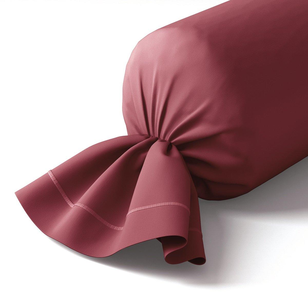 Taie de traversin coton 43x210 cm bourgogne