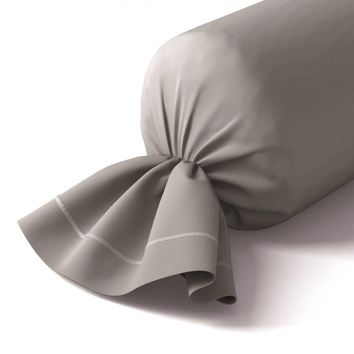 Taie de traversin coton 43x210 cm brume