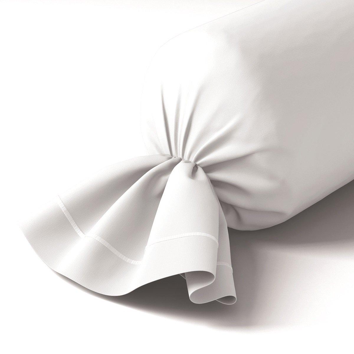 Taie de traversin coton 43x210 cm blanc
