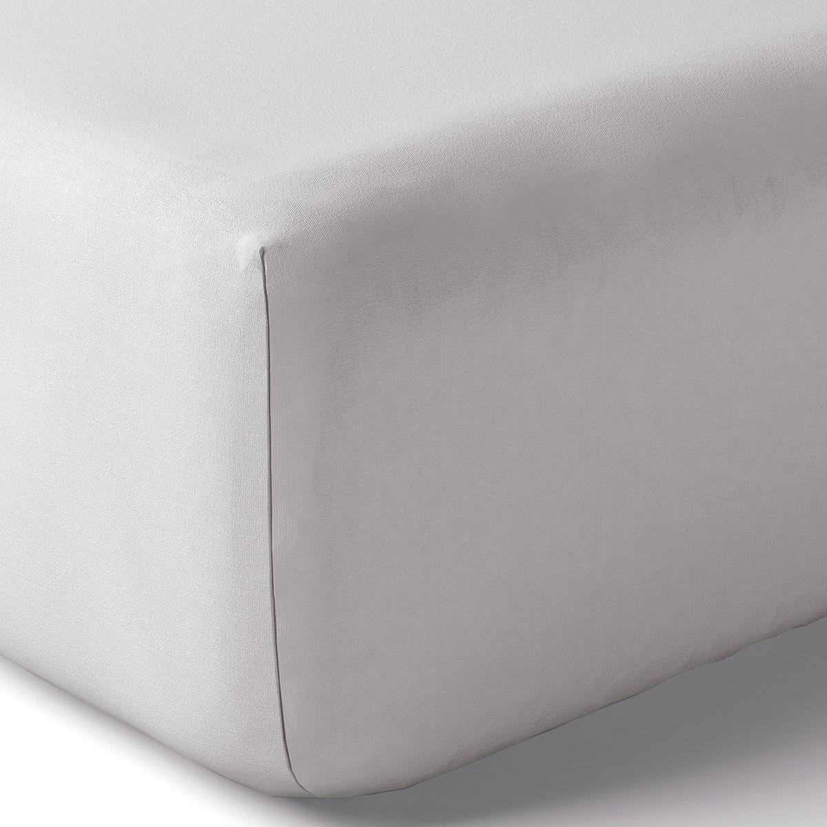 Drap housse coton 90x200 cm tourterelle