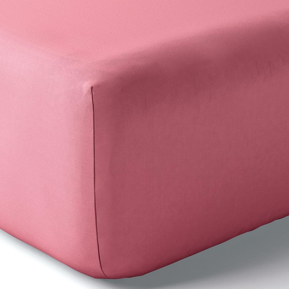 Drap housse coton 160x200 cm pivoine