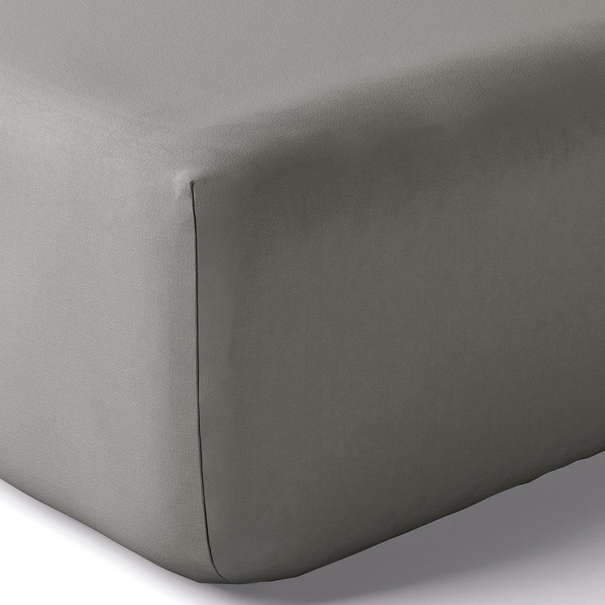 Drap housse coton 160x200 cm brume