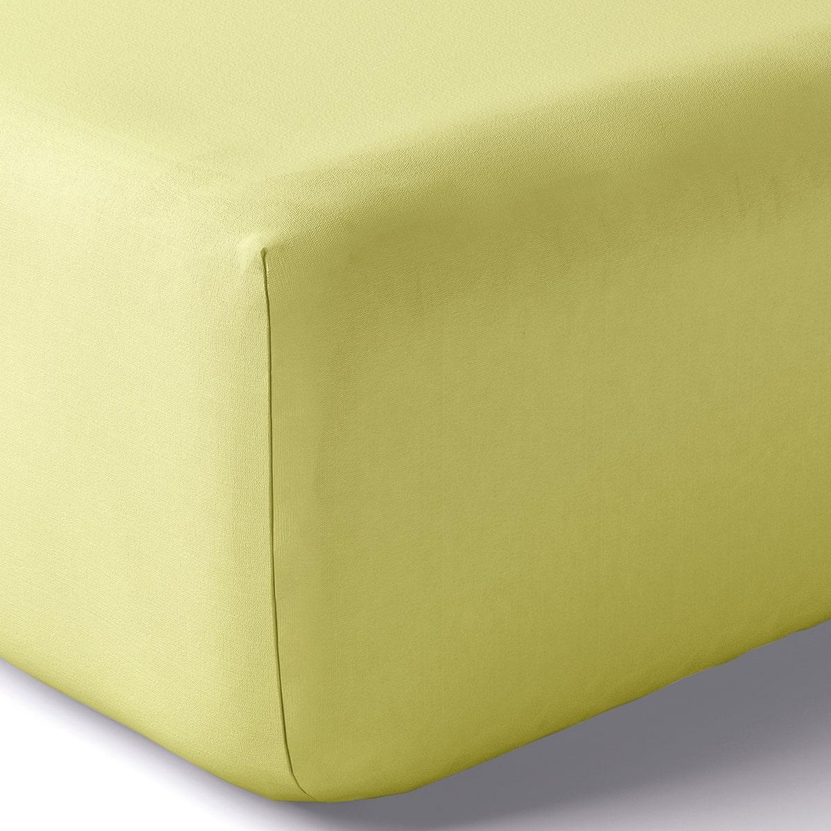 Drap housse coton 160x200 cm zeste