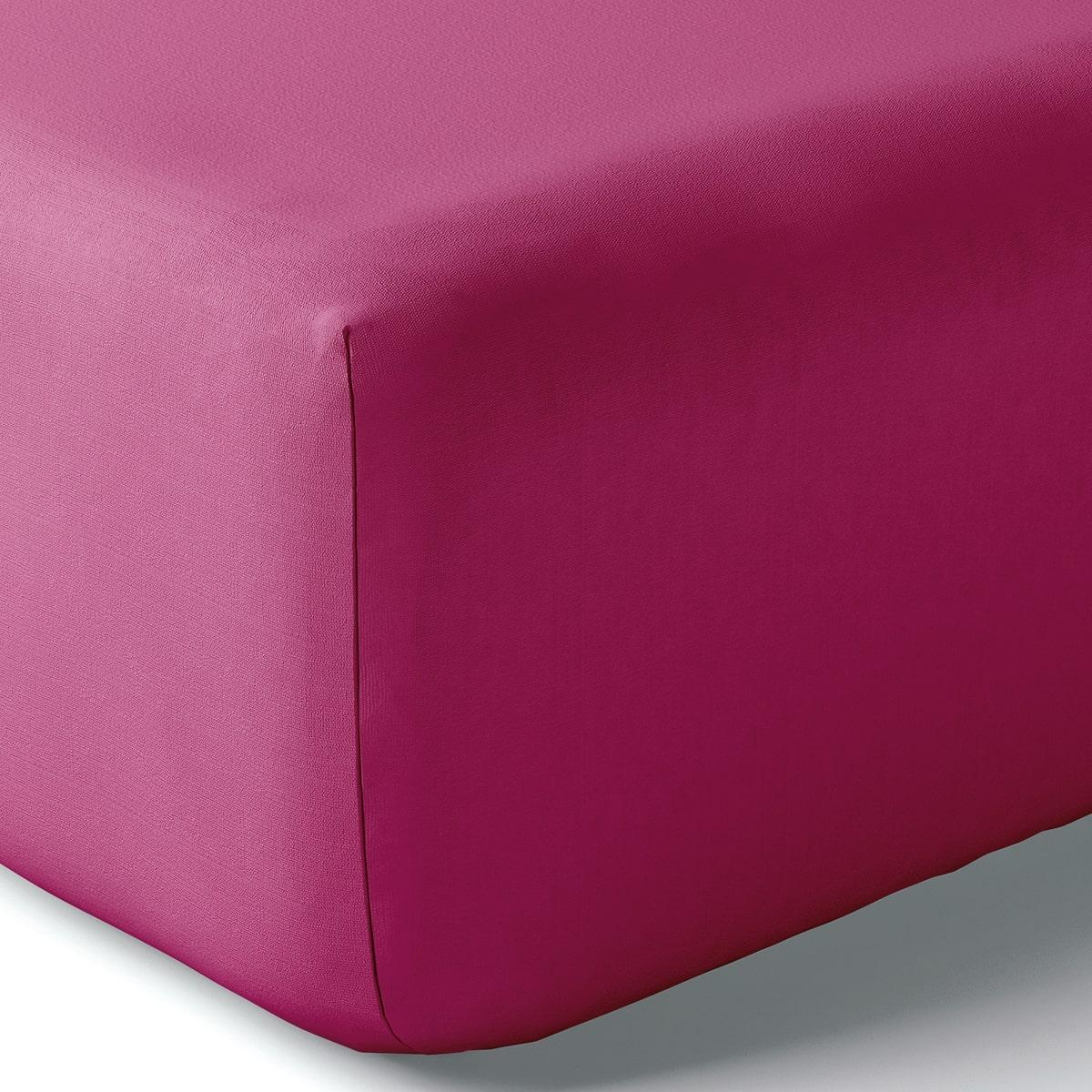Drap housse coton 140x190 cm clématite