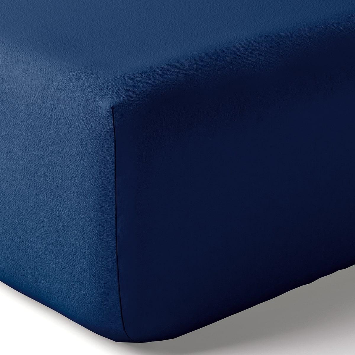 Drap housse coton 160x200 cm encre