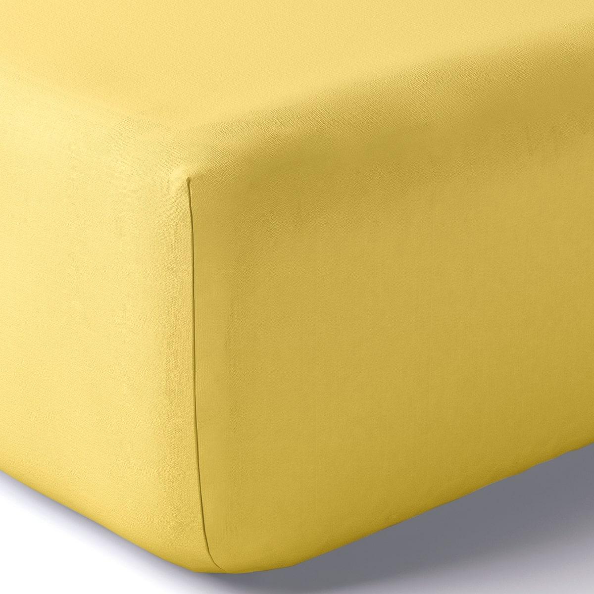 Drap housse coton 160x200 cm blé