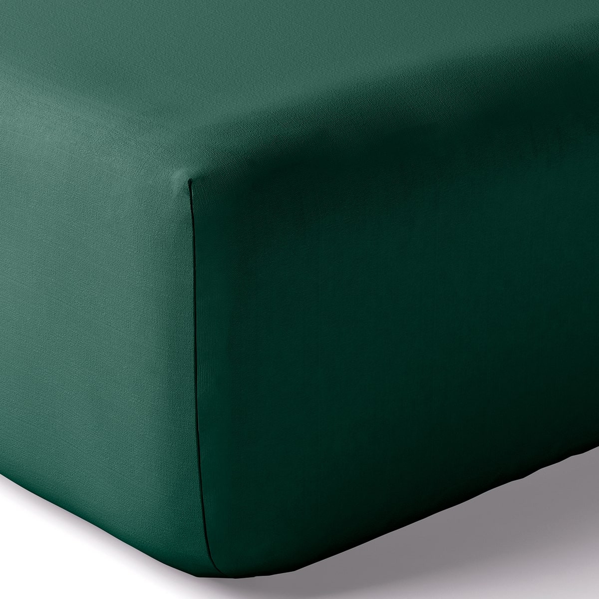 Drap housse coton 80x200 cm emeraude