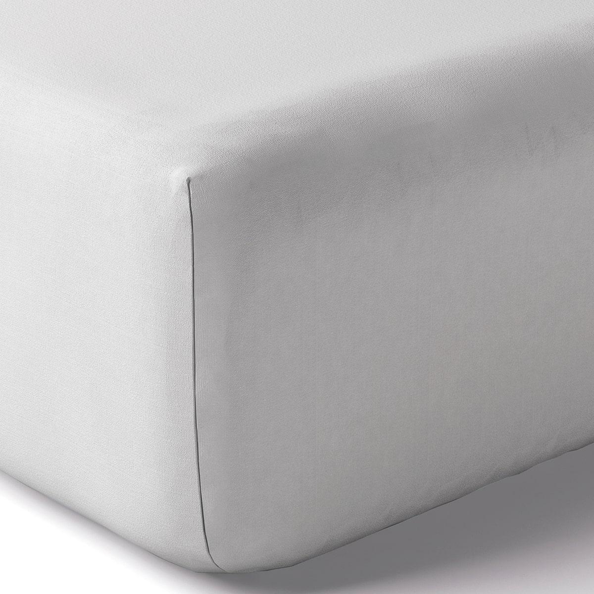 Drap housse coton 80x200 cm opaline