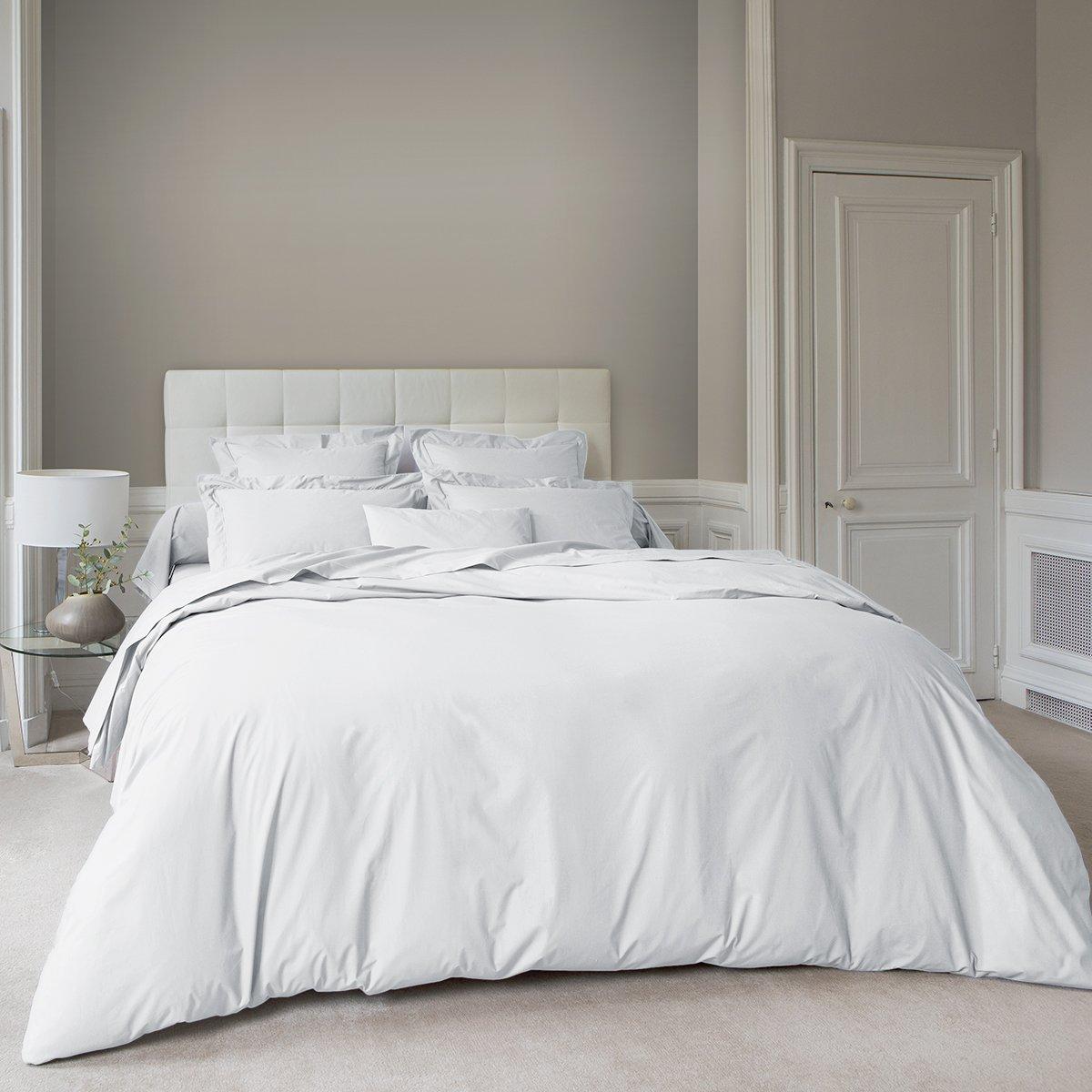 Housse de couette coton 260x240 cm blanc