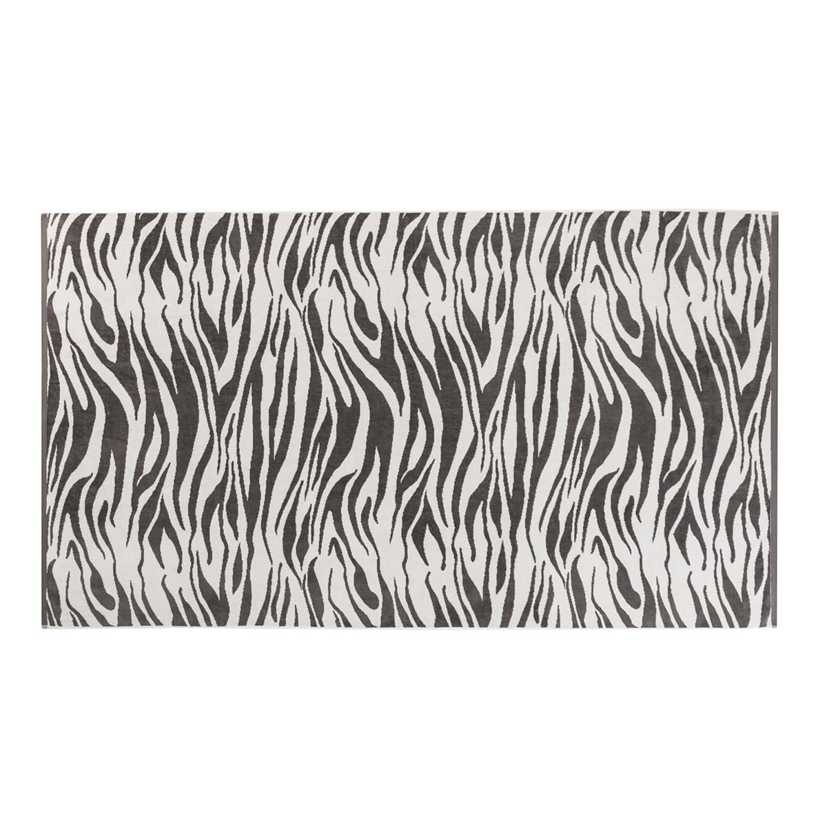 Drap de plage coton 100x180 cm gris foncé