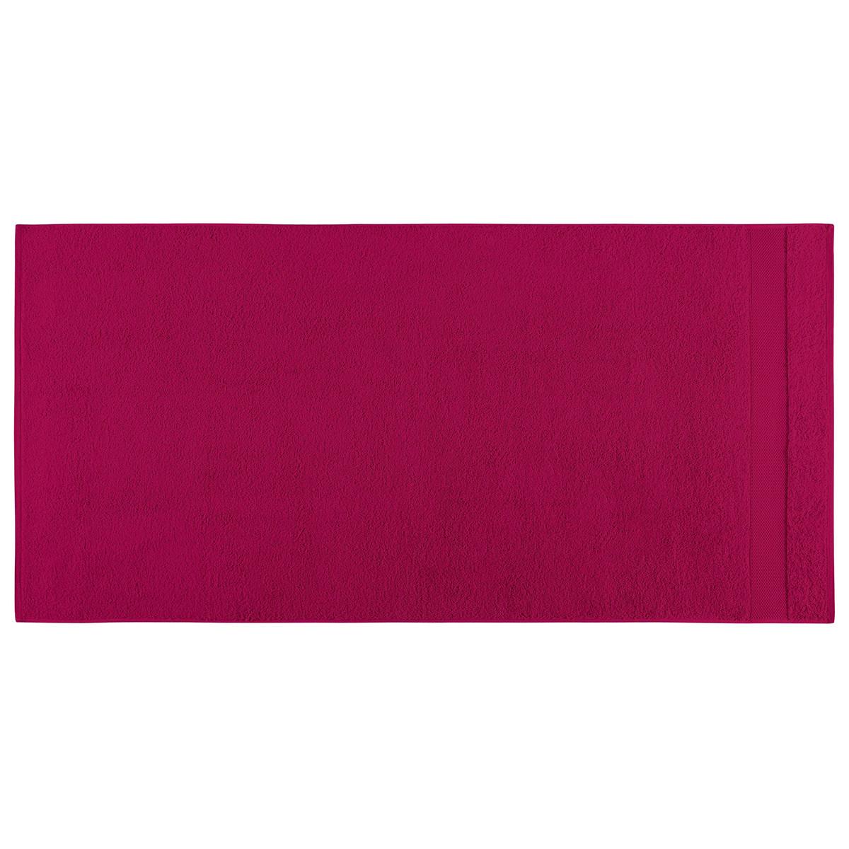 Drap de douche coton 70x140 cm fuchsia