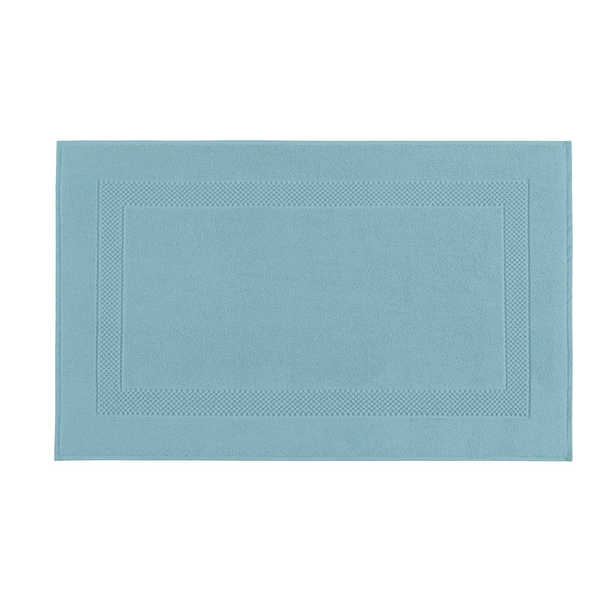 Tapis de bain coton 60x80 cm azur