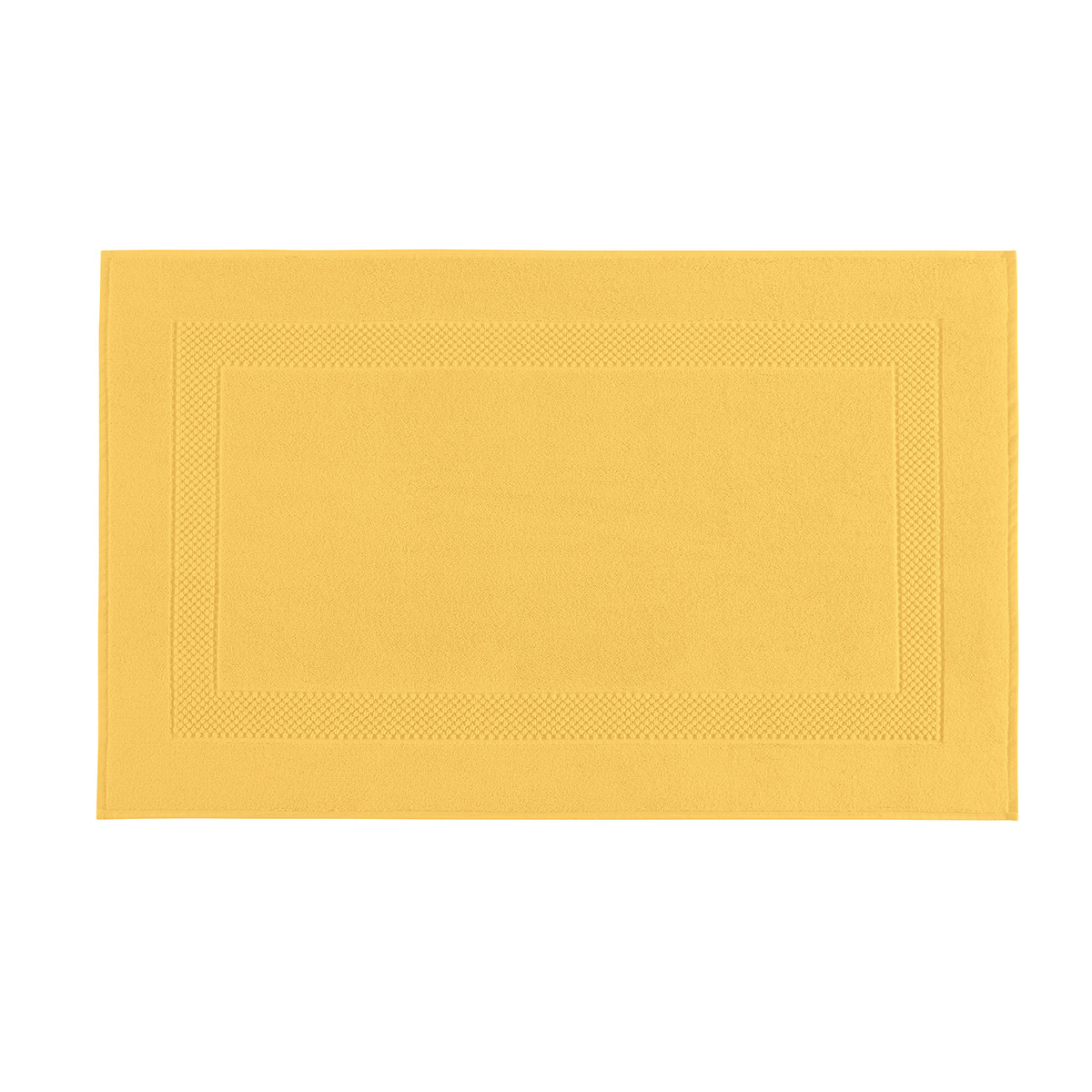 Tapis de bain coton 60x80 cm jonquille
