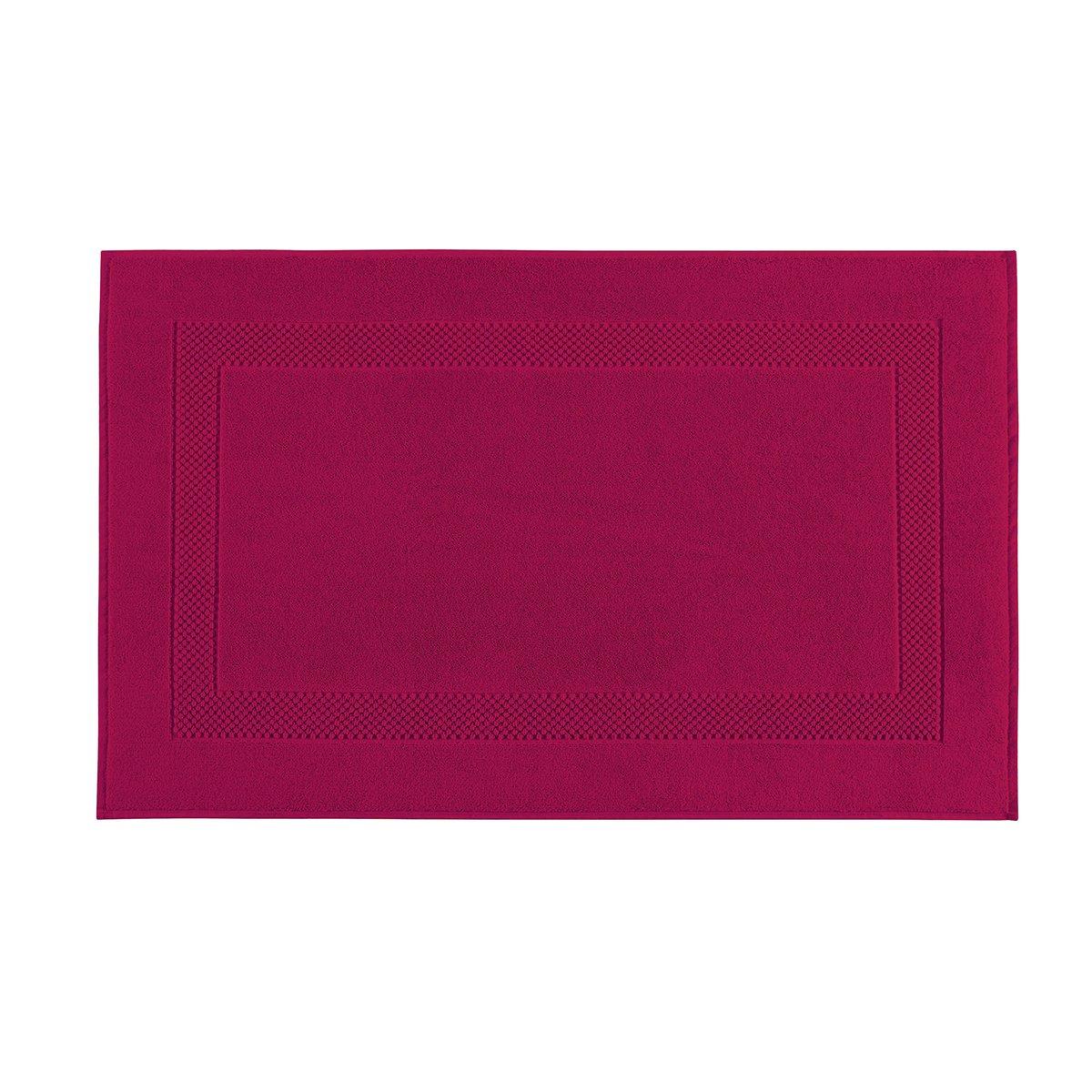 Tapis de bain coton 60x80 cm fuchsia
