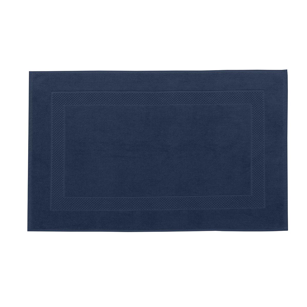 Tapis de bain coton 60x80 cm bleuet
